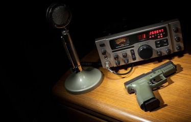 Gun and radio