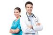 Leinwanddruck Bild - Doctor and nurse