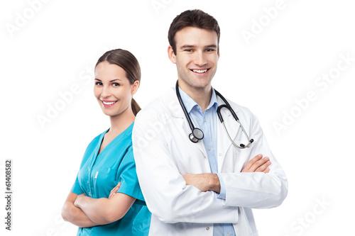 Leinwanddruck Bild Doctor and nurse