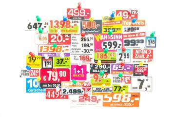 Werbung - Preisschilder