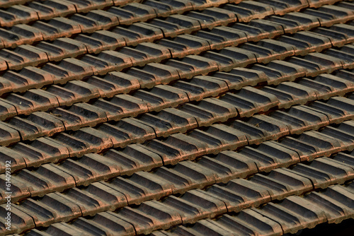 Slanting Roof Tiles closeup
