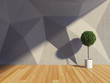 Abstract modern interior room