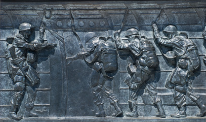 World War 2 memorial,airborn scene,Washington D.C