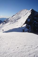 La barre des Ecrins (4102 m), depuis le dôme des Ecrins (Alpes)