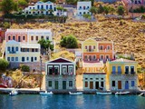 Colorful houses, Symi island, Greece - 61410320