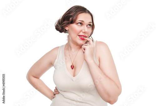 Sexy beautiful plus size woman