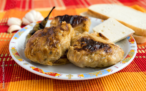 Stuffed cabbage leaves