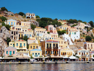 Colorful Symi island in Greece