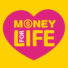 text money for life inside heart
