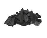 pile charcoal isolated on white, xylanthrax, wood coal