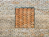 brick wall from silicate brick