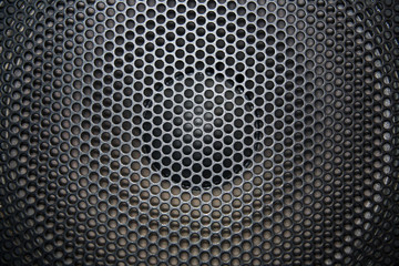 loudspeaker grid with round openings
