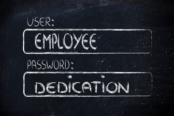 user Employee, password Dedication