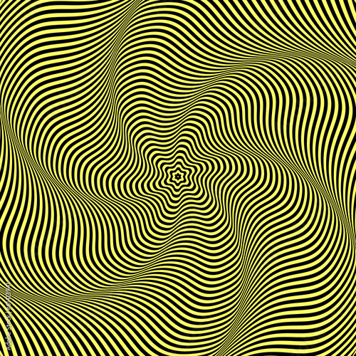 Illusion of wavy rotation movement.