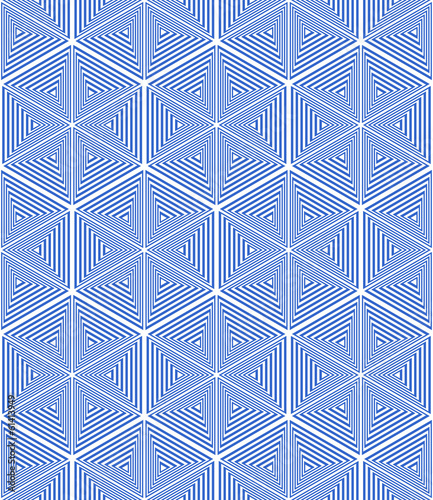 Stars and hexagons pattern. Seamless geometric texture.
