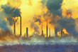 canvas print picture - Environmental pollution