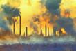 Leinwanddruck Bild - Environmental pollution