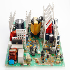 powerful electronic power supply with heat sinks