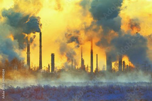 Fotobehang Industrial geb. Environmental pollution