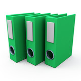 Green office archive folders, 3d