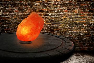 Himalayan salt as lamp