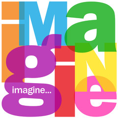 """IMAGINE"" Letter Collage (imagination creativity dreams ideas)"