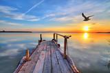 amanece en el lago de los sueños