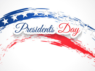 elegant presidents day design on white color background