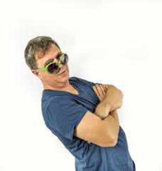 man performs cool rap