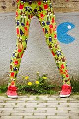 Legs of teenage girl outdoor