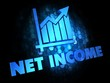 Net Income Concept on Dark Digital Background.