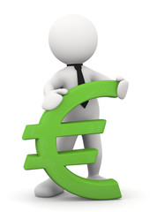 omino bianco con simbolo EURO