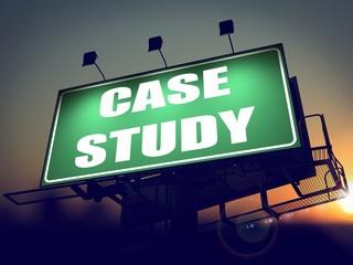 Case Study - Billboard on the Sunrise Background.