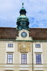 Clock tower in Hofburg Palace