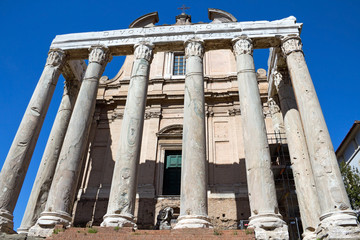 The church of San Lorenzo in Miranda in the Forum Roman