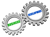 business development in silver grey gears
