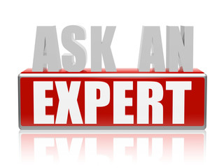 ask an expert in 3d letters and block
