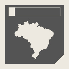 Brazil map button
