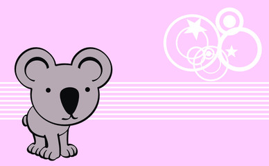 koala cute baby cartoon wallpaper