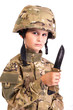 Young soldier with knife