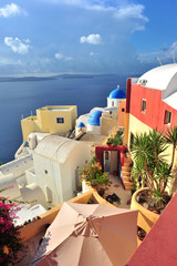 The colourful village of Oia, Santorini