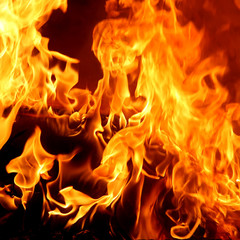 Red Fire and Flames Background