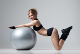 Fitness with gym ball - 61420924