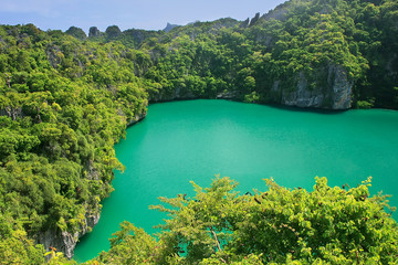 Thale Nai lagoon, Mae Koh island, Ang Thong National Marine Park