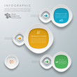 Infographics Vector Background Flow Chart