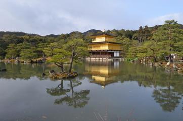 Japanese Golden Pavilion in Kyoto