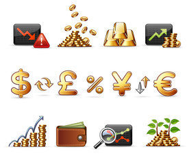 Finance, Money and Economy - Harmony Icon Set 05