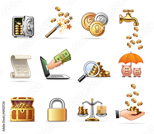Money and Finance - Harmony Icon Set 08