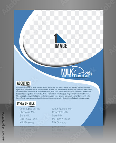 Milk Store Back Flyer Template.