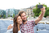 Tourist couple on travel in Berlin, Germany
